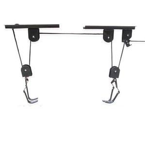 מתקן שימושי לתליית זוג אופניים לתיקרה