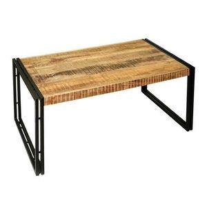 שולחן סלון עץ וברזל PLD
