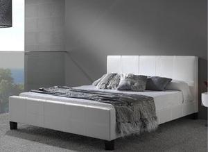 מיטת זוגית מבית GAROX דגם BLANCO עור אמיתי