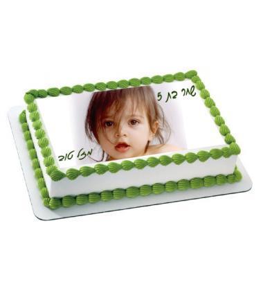הדפסת תמונה על עוגה