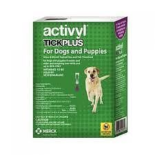 activyl אקטיוויל פלוס נגד פרעושים וקרציות לכלב 20-40 ק