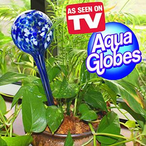 מבצע 1+1 חינם! מארז זוגי כדורי השקיה לעציצים aqua globes + מארז זוגי נוסף חינם!!