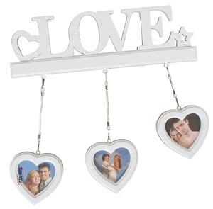 מסגרת ל-3 תמונות עם תליה LOVE