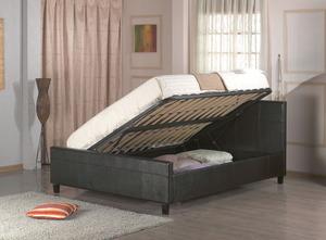 מיטה זוגית מבית GAROX דגם MICHELE הכוללת ארגז מצעים מעור אמיתי