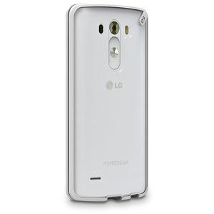 כיסוי ל LG G3 שקוף/לבן PureGear Slim Shell