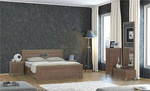 מבצע:חדר שינה דגם YONI עץ סנדוויץ
