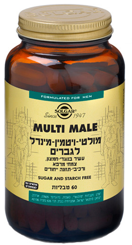 Solgar Multi Male מולטי ויטמין-מינרל לגבר Solgar