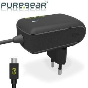 מטען מקורי לסמארטפונים PureGear 12W/2.4A Wall Charger