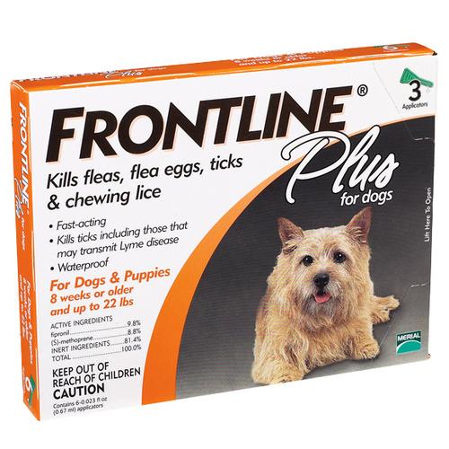 פרונטליין פלוס לכלב במשקל 2-10 ק