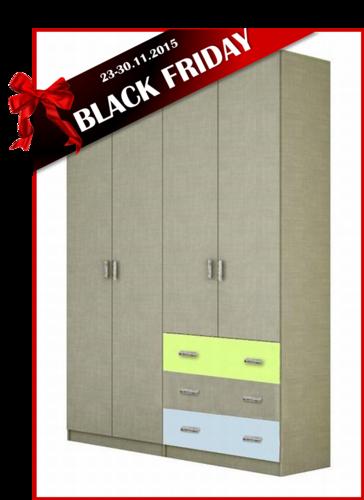 BLACK FRIDAY ארון 4 דלתות SHIR