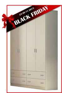 BLACK FRIDAY ארון 4 דלתות NOGA