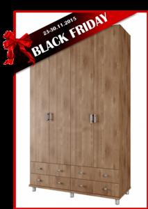 BLACK FRIDAY ארון 4 דלתות ROY