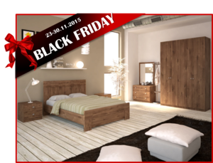 BLACK FRIDAY חדר שינה URBAN עם ארון