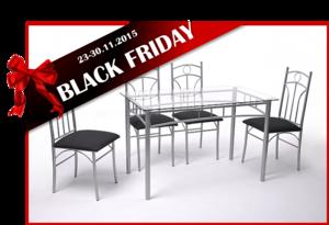 BLACK FRIDAY פינת אוכל SHIR כולל 4 כסאות