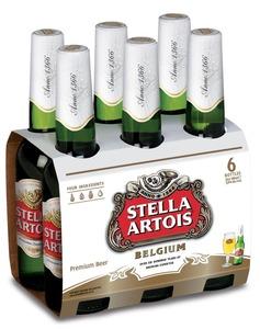 """שישיית בירה Stella Artois - סטלה ארטוואה 330 מ""""ל (6 בקבוקים)"""