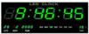 שעון קיר חשמלי ירוק + טמפרטורה