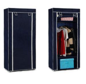 ארון אחסון מתקפל וקומפקטי לתליית בגדים כולל 3 מדפי משנה!