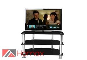 """סטנד טלוויזיה משולב זכוכית """"בולוניה"""" מבית Homax הכולל שלושה מדפי זכוכית חזקים ב- 199 ₪ בלבד!"""""""
