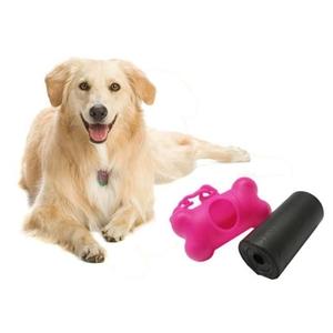 מתקן פלסטיק בצורת עצם נוח וגאוני המתאים לנשיאת גלילי שקיות המתלבש על רצועת הכלב כולל 10 גלילים רק 29 ₪ ליחידה!