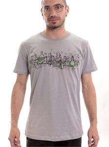 PlazmaLab חולצה קצרה - Test This Grey Shirt