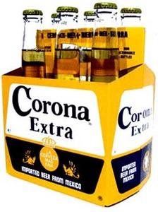 """שישיית בירה Corona - קורונה 330 מ""""ל (6 בקבוקים) [ברכישה מעל 500 ש""""ח]"""
