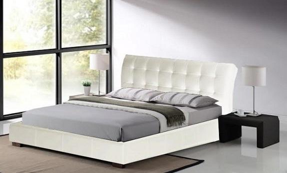 מיטה זוגית מבית GAROX דגם LUCIANO דמוי עור