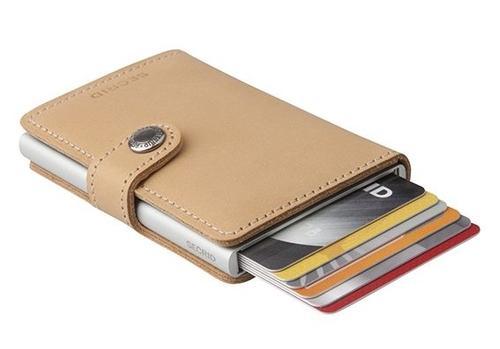 ארנק אלומיניום וכיסוי עור לגבר Secrid mini wallet 8718215282037