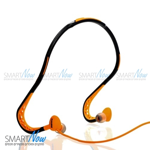 אוזניות ספורט מקצועיות לריצה עמיד בזיעה מבית REMAX בצבע כתום