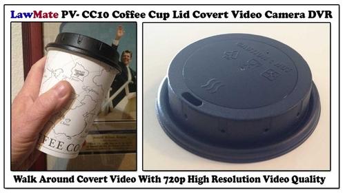 PV-CC10 מצלמה נסתרת במכסה של כוס שתיה חד פעמית