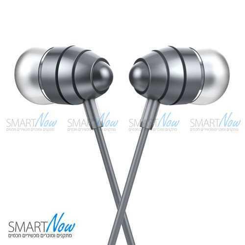 אוזניות סטריאו מקצועיות מדגם M5 כולל מיקרופון בצבע אפור מבית HOCO