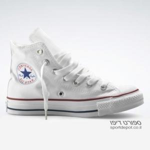 נעלי אולסטאר גבוהות M7650 ALL STAR HI OPTICAL WHITE