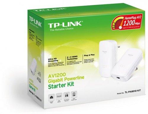 מתאם רשת על גבי רשת החשמל TP-Link TL-PA8010 AV1200 Gigabit 1200Mbps מתאם רשת חשמל 2 יחידות בערכה
