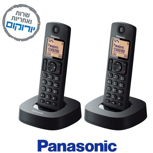מקורי Panasonic KX-TGC312 בעברית שנתיים אחריות פנסוניק - Panasonic LS-22