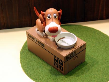 קופת חיסכון בצלחת אוכל של כלב