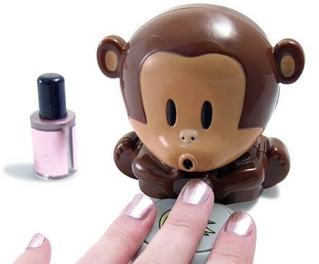 מייבש לק לציפורניים בצורת קוף חמוד