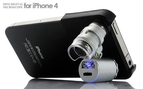 עדשת מיקרוסקופ עם זום X60 לאייפון 4