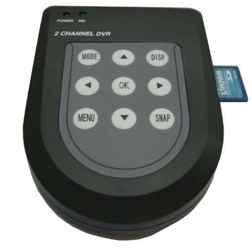 DVR קומפקטי להקלטה בכרטיס זיכרון של עד 2 מצלמות
