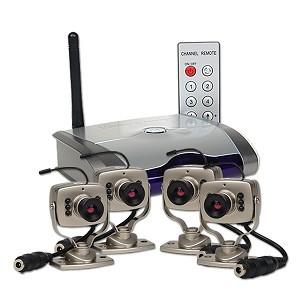 סט מיני מצלמות אלחוטיות, עם רסיבר/מקלט