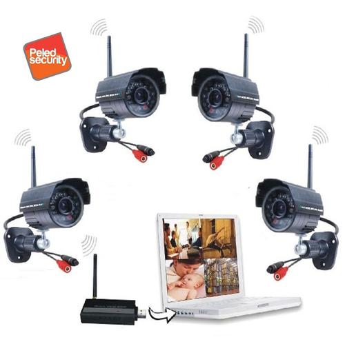 סט מצלמת אבטחה אלחוטית דיגיטלית ומתאם