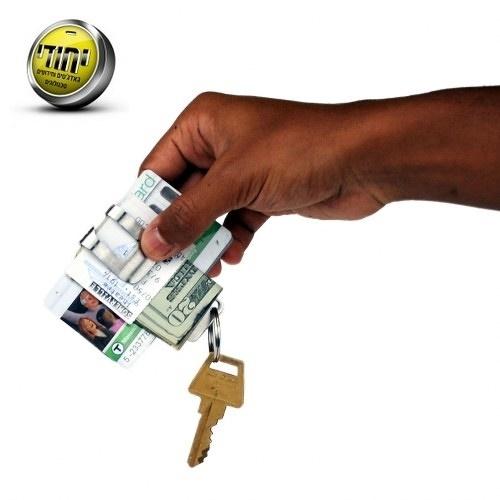 כלי רב תכליתי- תפסן לשטרות וכרטיסי אשראי