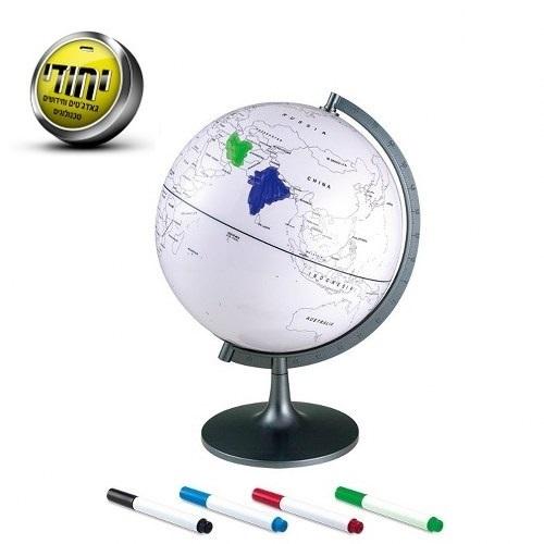 מפת כדור הארץ לצביעה וסימון מקומות שהייתם