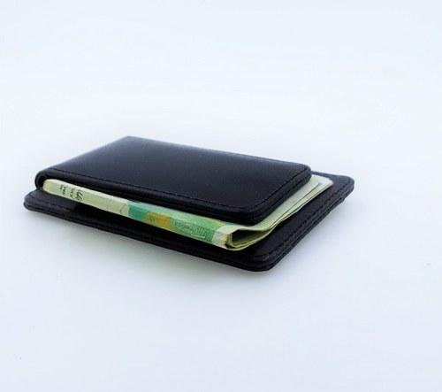 ארנק קומפקטי דמוי עור לאכסון כרטיסי אשראי ושטרות כסף