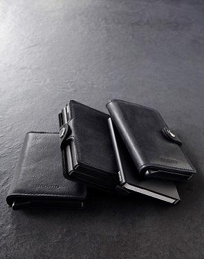 ארנק אלומיניום וכיסוי עור במראה שחור קלאסי SECRID Original black wallet