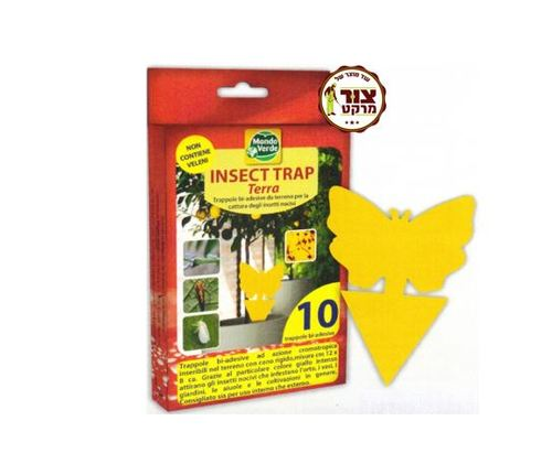 10 יחידות במארז-  מלכודת דבק מקצועית דקורטיבית ללכידת זבובים ומעופפים בעציצי בית