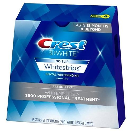 קרסט ערכה להלבנת שיניים 42 פסים! crest supreme flexfit