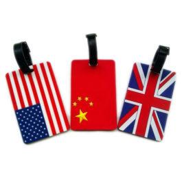 תג שם למזוודה דגלי העולם לזיהוי קל ויעיל