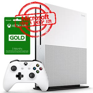 Microsoft Xbox One S 1TB+Gold Live 3 Month אחריות יבואן רשמי