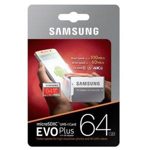כרטיס זיכרון Samsung MicroSDXC EVO Plus Memory Card Adapter 64GB סמסונג