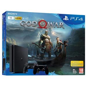 PS4 SLIM 1T GOD OF WAR Bundle+שלט נוסף Sony