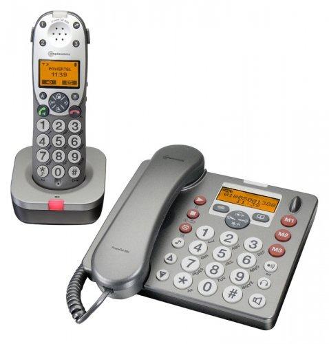 מגה וברק טלפון שולחני עם שלוחה אלחוטית ומשיבון PowerTel 880 amplicomms DP-16